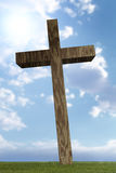3d wooden cross Stock Image