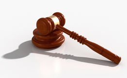 3d wooden gavel Royalty Free Stock Images