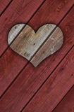 3D wooden heart for Valentine's day Stock Photography