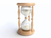 3D Wooden Hourglass Royalty Free Stock Photo