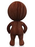 3D wooden person Royalty Free Stock Photos