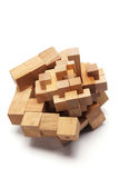 3D Wooden Puzzle. On White Background Royalty Free Stock Images