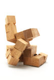 3D Wooden Puzzle Stock Photography