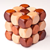 3D wooden puzzle Royalty Free Stock Photos
