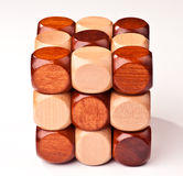 3D wooden puzzle Stock Images