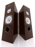 3D Wooden Speakers Royalty Free Stock Images