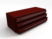 3D Wooden Storage Cabinet Royalty Free Stock Photography