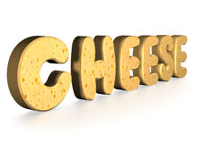 3d word Cheese Stock Photos