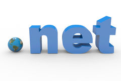 3D word NET. Earth spere replacing dot. Stock Photo