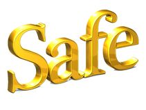 3D Word Safe on white background Royalty Free Stock Photos