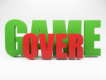 3d words game over. Against grey background royalty free illustration
