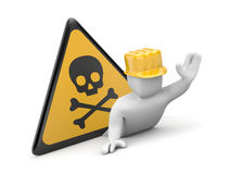 3d worker in danger Royalty Free Stock Photos