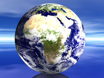 3D World - Affrica. 3D Earth Affrica vector illustration
