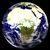 3D World - Africa. 3D Earth - Africa vector illustration