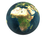 3D world Africa isolated Royalty Free Stock Image