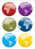 3d world button Royalty Free Stock Photography