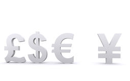 3d world currencies Royalty Free Stock Photos