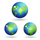 3d World Globe Map Vector Icon stock illustration