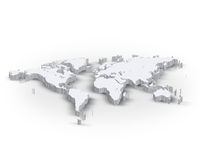 3d world map Stock Image