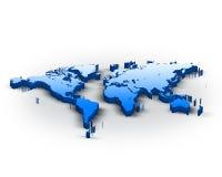 3d world map. Beautiful blue 3d world map Stock Photo