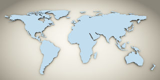 3d world map Stock Photography