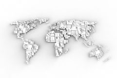3D World map. Box concept Royalty Free Stock Images