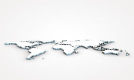 3d world map. With extrude continents Stock Images