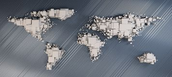 3d world map rendering Royalty Free Stock Photos