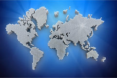 3d world map rendering Royalty Free Stock Images