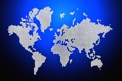 3d world map rendering Royalty Free Stock Image