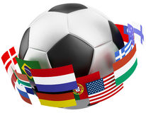 3d world soccer ball. Royalty Free Stock Photos