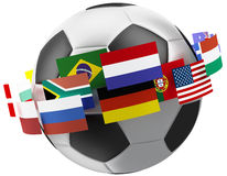 3d world soccer ball. Stock Image