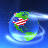 3D World - USA Royalty Free Stock Photo
