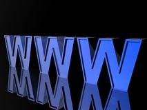 3d World Wide Web Stock Photo