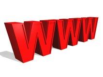 3d World Wide Web. Internet symbol Stock Photography
