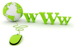 3d world wide web concept. On white background Royalty Free Stock Photos