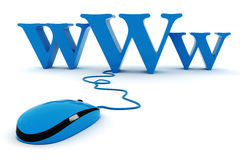 3d world wide web concept. On white background Stock Image