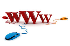 3d world wide web concept. On white background Stock Photography