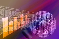3D World Wide Web - Internet stock illustratie