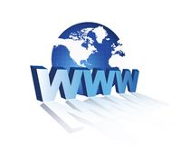 3D World Wide Web [WWW] Stock Afbeelding