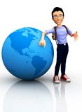 3D worldwide traveler Stock Photos