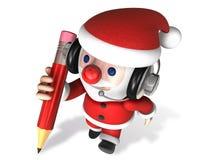 3d writing of santa claus Royalty Free Stock Photography