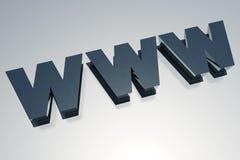 3D WWW Royalty-vrije Stock Afbeeldingen