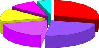 3d wykres ilustracja wektor