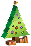 3D Xmas Tree Stock Images