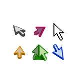 3D y flecha básica del cursor Fotos de archivo libres de regalías