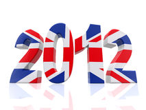3D Year 2012 in Great Britain Royalty Free Stock Photo