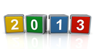 3d year 2013 Royalty Free Stock Image