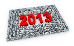 3d year 2013 Stock Images