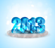 3D Year 2013. Colorful of 3D Year 2013 Royalty Free Stock Photography